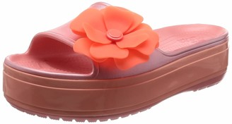 Crocs Crocband Platform Vivid Blooms Slide Sandal