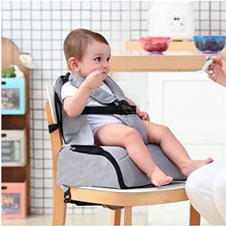 Babify 2-in-1 Travel Highchair with Storage - Soft Grey