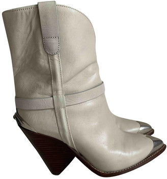 Isabel Marant Lamsy White Leather Boots