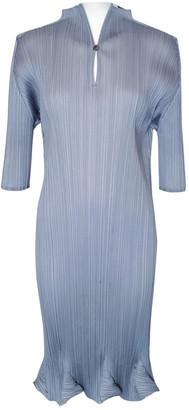 Pleats Please Grey Polyester Dresses