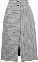 Carven Fantaisie textured-jacquard midi skirt