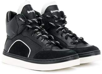 Bumper TEEN hi-top lace-up sneakers