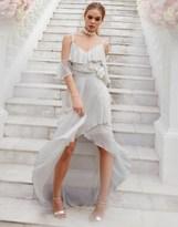Lipsy Lily Ruffle Cold Shoulder Maxi Dress