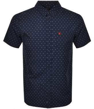 Jack Wills Bondby Short Sleeved Shirt Navy