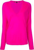 Proenza Schouler v-neck knitted top - women - Merino - XS