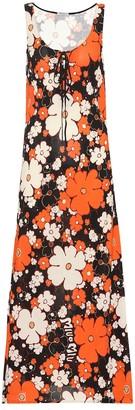 Miu Miu Floral jersey maxi dress