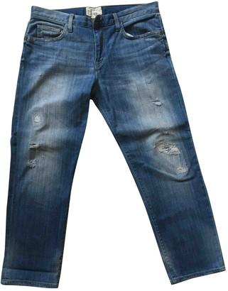 Current/Elliott Current Elliott Blue Cotton Jeans
