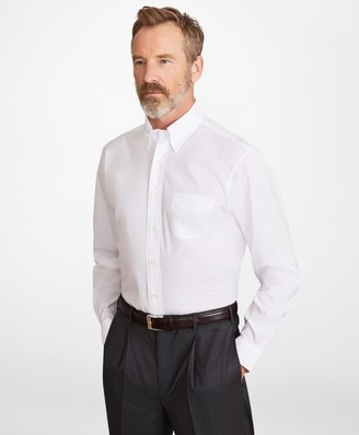 Brooks Brothers Madison Classic-Fit Dress Shirt, Performance Non-Iron with COOLMAX, Button-Down Collar Broadcloth