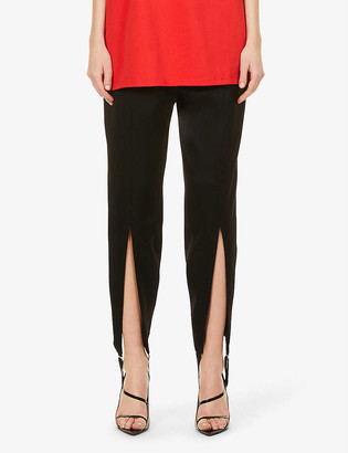 Y/Project High-rise regular-fit satin trousers