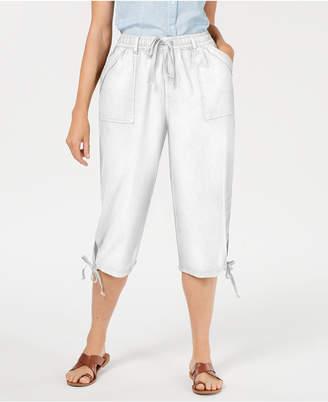 Karen Scott Petite Dahlia Cargo Capri Pants