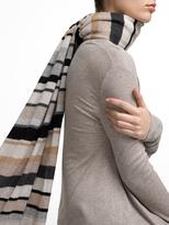 White + Warren Cashmere Multi Stripe Travel Wrap
