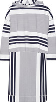 Rosetta Getty Hooded striped stretch-jersey poncho