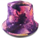 Nobrand Unisex Bucket Hats with Galaxy or Coconut Tree Printed for Beach or other Outdoor Activities