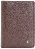 Tom Ford Brown Leather Cardholder