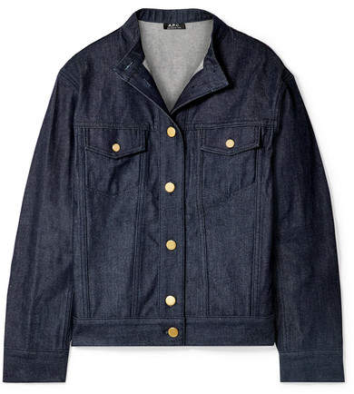 A.P.C. Bailey Oversized Denim Jacket - Dark denim