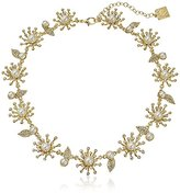 "Anne Klein Into The Garden"" Gold-Tone Pearl and Crystal Flower Collar Necklace, 16"" + 3"" Extender"