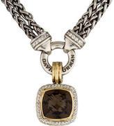 David Yurman Smoky Quartz & Diamond Albion Pendant Necklace