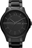 Armani Exchange Ax2104 stainless steel and leather watch