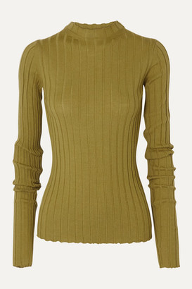 Petar Petrov Kent Ribbed Merino Wool Sweater - Dark green