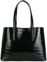 Aspinal of London embossed crocodile effect tote - women - Leather - One Size