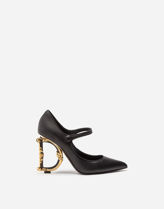 Dolce & Gabbana Nappa Leather Mary Jane With Baroque Heel