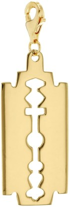 True Rocks 18 Carat Gold Plated Small Razor Blade Charm