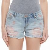 Candies Juniors' Candie's® High-Waist Ripped Jean Shortie Shorts