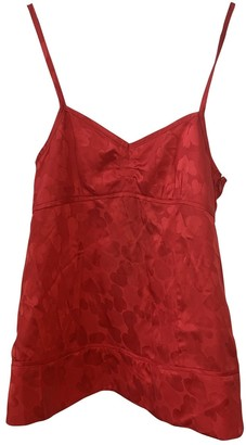 Marc by Marc Jacobs Red Silk Top for Women
