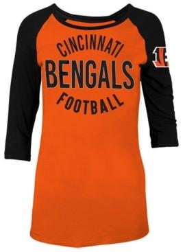 5th & Ocean Women's Cincinnati Bengals Rayon Raglan T-Shirt