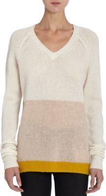 Trovata V-Neck Colorblock Sweater