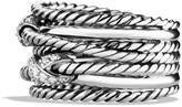 David Yurman Double X Crossover Ring with Diamonds