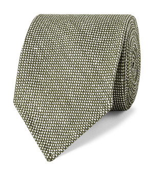Drakes 8.5cm Linen And Silk-Blend Tie