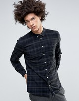Minimum Canarsie Slim Check Shirt Brushed Cotton Buttondown In Slim Fit