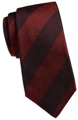 Kiton Diagonal Striped Silk Tie