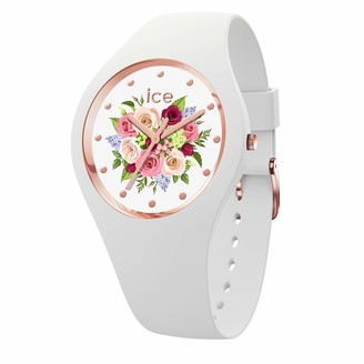 Ice Watch Ice-Watch - ICE flower White bouquet - Women's wristwatch with silicon strap - 017575 (Small)