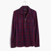 Madewell Flannel Zip-Front Popover Shirt in McKinney Plaid
