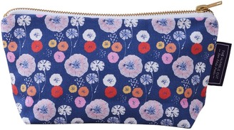 The Humble Cut Midnight Poppy Cotton Cosmetic Bag - Blue