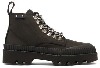Proenza Schouler City Lug-sole Canvas Boots - Black