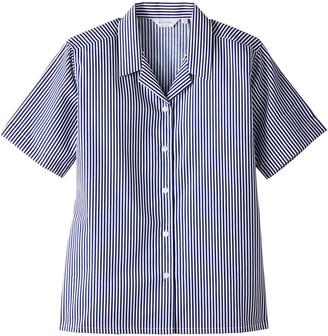Trutex Girl's 2PK Rever Striped Short Sleeve Non-Iron Blouse
