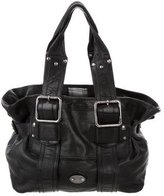 CNC Costume National Textured Leather Shoulder Bag