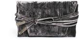 Stuart Weitzman 'Petite Black Tie' wraparound tie velvet clutch