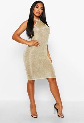 boohoo Premium Knitted Metallic Bodycon Dress