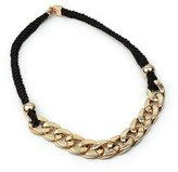 AllBeauty Stylish Punk Gold Chain Black Thick Rope Connect Chunky Charm Bib Necklace New