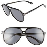 Marc Jacobs Women's 58Mm Navigator Sunglasses - Black/ Ruthenium