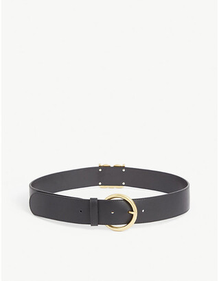 Sandro Logo-buckle leather belt