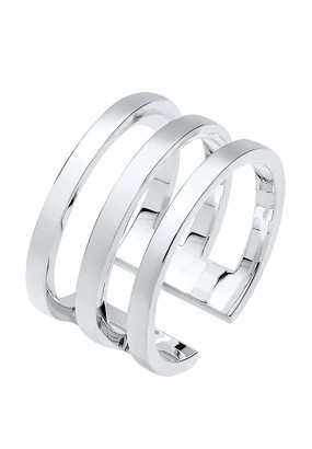 Elli Women's 925 Sterling Silver Wrapped Style Ring - Size N
