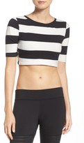 Reebok Women's Yoga Stripe Crop Top