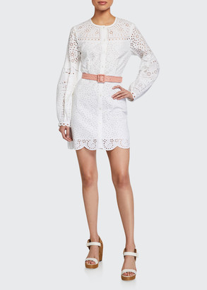 Veronica Beard Yana Eyelet Mini Dress