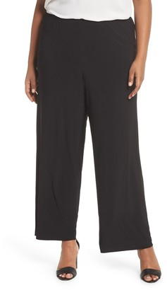 Alex Evenings Matte Jersey Straight Leg Pants