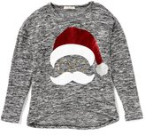 Copper Key Big Girls 7-16 Christmas Santa Top